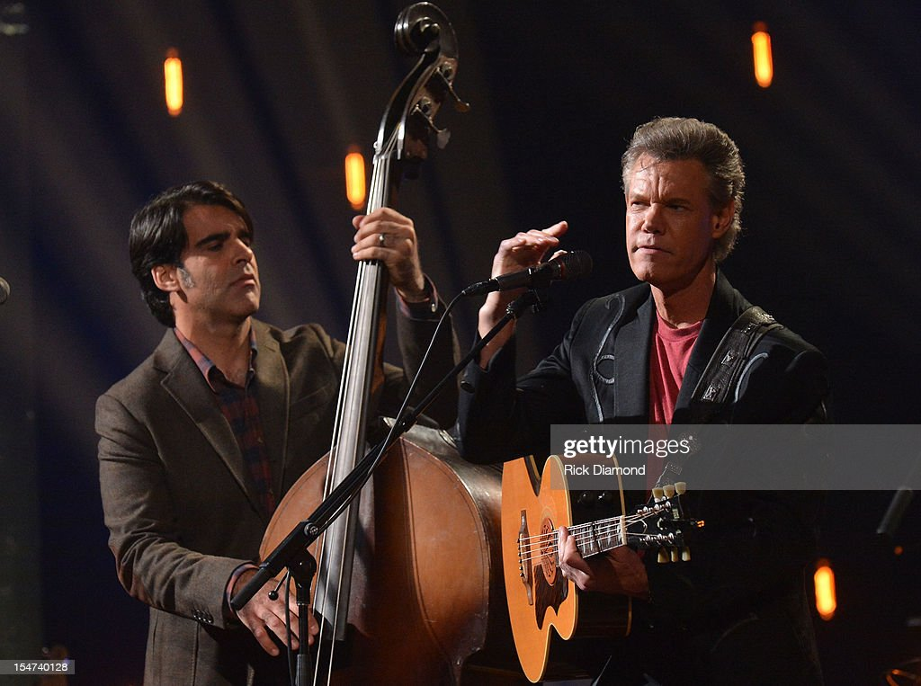Bob Crawford - Avett Brothers and Randy Travis perform during CMT Crossroads: The Avett Brothers And Randy Travis tape at The Factory, Liberty Hall in Franklin, Tennessee on October 24, 2012 The Avett Brothers And Randy Travis airs only on CMT November 23rd 2012