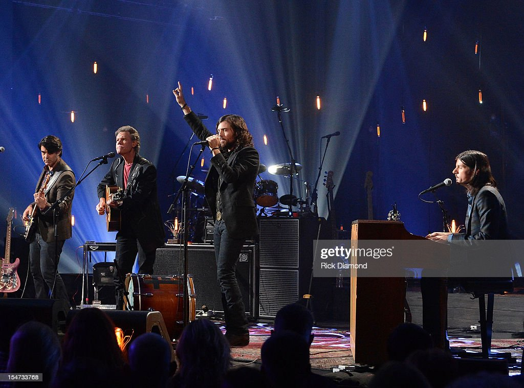 Bob Crawford - Avett Brothers, Randy Travis, Scott Avett and Seth Avett perform during CMT Crossroads: The Avett Brothers And Randy Travis tape at The Factory, Liberty Hall in Franklin, Tennessee on October 24, 2012 The Avett Brothers And Randy Travis airs only on CMT November 23rd 2012