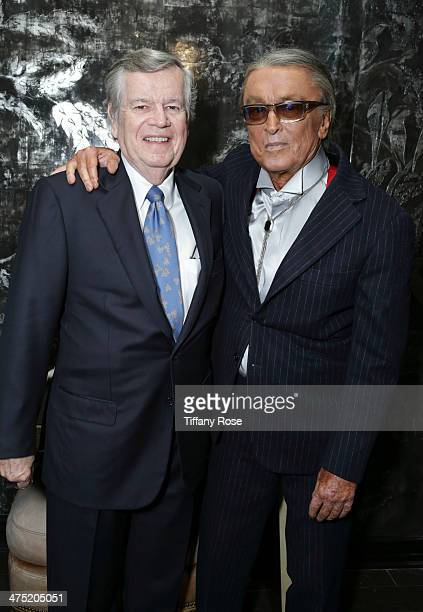 Bob Daly and producer Robert Evans attend VIOLET GREY Honors Elizabeth Taylor At She's So Violet Salon Dinner on February 26 2014 in Los Angeles...