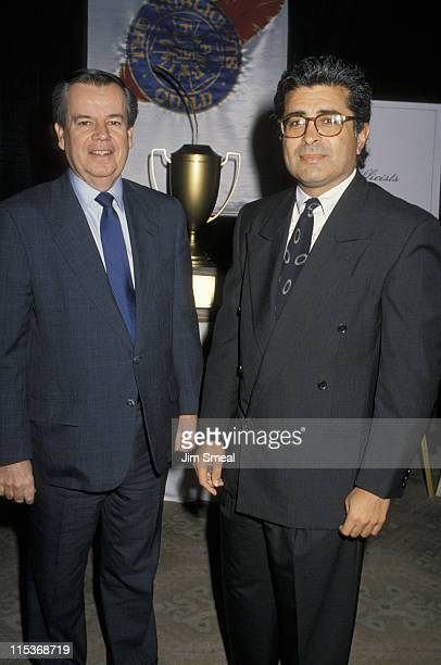 Bob Daly and Terry Semel during 27th Annual Publicists Guild of America Awards at Beverly Hilton Hotel in Beverly Hills California United States