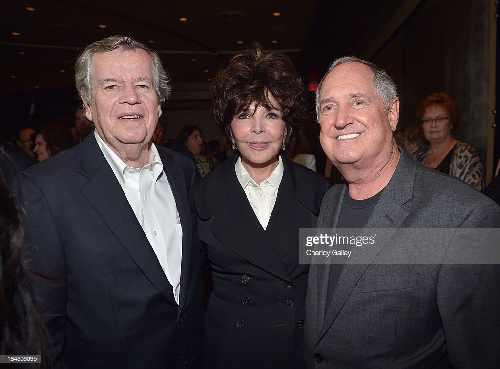 Bob Daly, songwriter Carole Bayer Sager and singer Neil Sedaka attend 'Hugh Jackman... One Night Only' Benefiting MPTF at Dolby Theatre on October 12, 2013 in Hollywood, California.