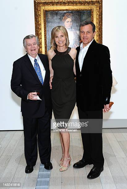 Bob Daly Willow Bay and Robert Iger attend LACMA's 2012 Collector's Committee Gala Dinner at LACMA on April 21 2012 in Los Angeles California