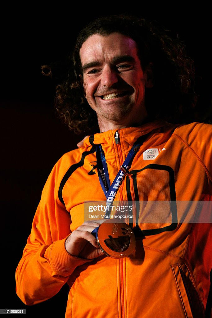 <a gi-track='captionPersonalityLinkClicked' href=/galleries/search?phrase=Bob+de+Jong&family=editorial&specificpeople=822252 ng-click='$event.stopPropagation()'>Bob de Jong</a> celebrates on the main stage during the Welcome Home Reception Held For Dutch Winter Olympic Athletes on February 24, 2014 in Assen, Netherlands.