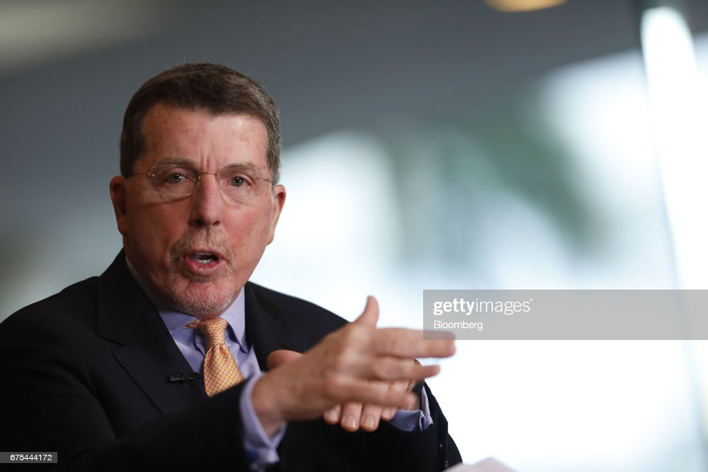Bob Diamond, chief executive officer of Atlas Merchant Capital LLC, speaks during a Bloomberg Television interview at the Milken Institute Global Conference in Beverly Hills, California, U.S., on Monday, May 1, 2017. The conference is a unique setting that convenes individuals with the capital, power and influence to move the world forward meet face-to-face with those whose expertise and creativity are reinventing industry, philanthropy and media. Photographer: Patrick T. Fallon/Bloomberg via Getty Images