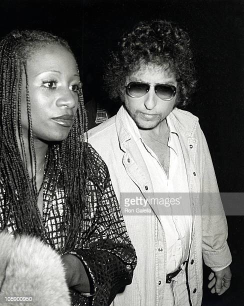 Bob Dylan and BackUp Singer during Bob Dylan at a Taping of 'Saturday Night Live' at NBC Building in New York City New York United States
