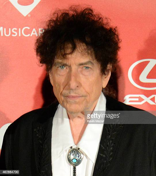Bob Dylan attends the 25th anniversary MusiCares 2015 Person Of The Year Gala honoring Bob Dylan at the Los Angeles Convention Center on February 6...