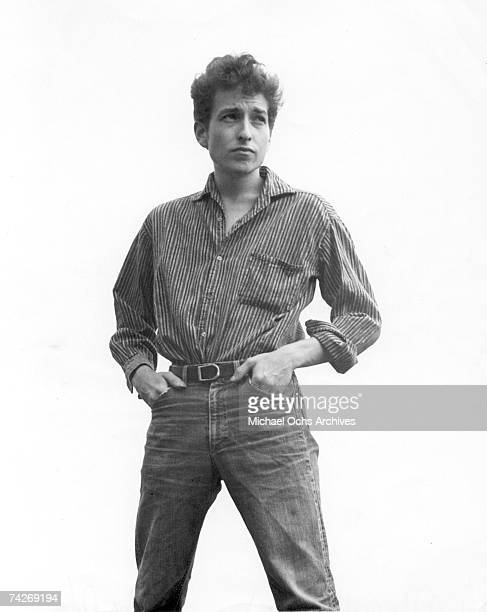 Bob Dylan poses for a portrait to promote the release of his album 'The Times They Are AChangin'' in January 1964
