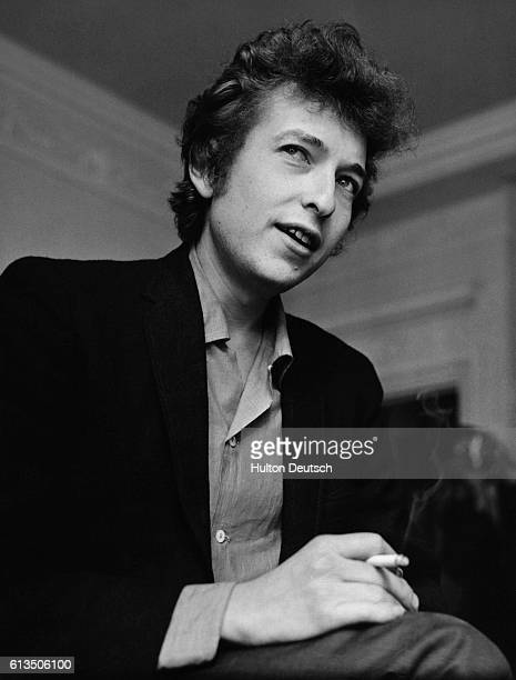Bob Dylan the cult American singer and songwriter best known for his folk protest music during the 1960's