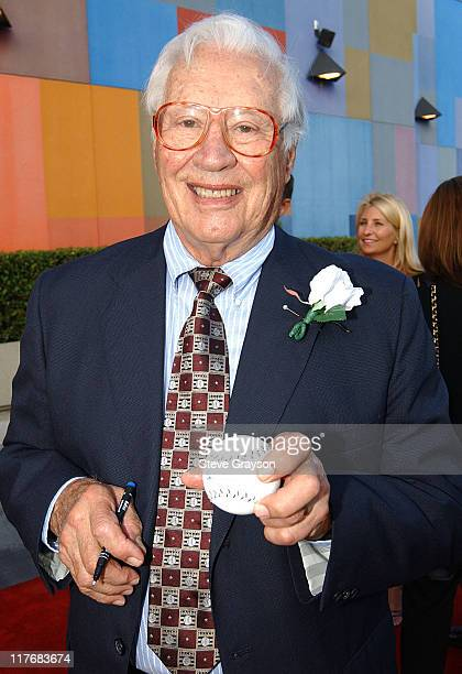 Bob Feller during 15th Annual RBI Hall of Fame Dinner at The Globe Theater at Universal Studios in Universal City California United States