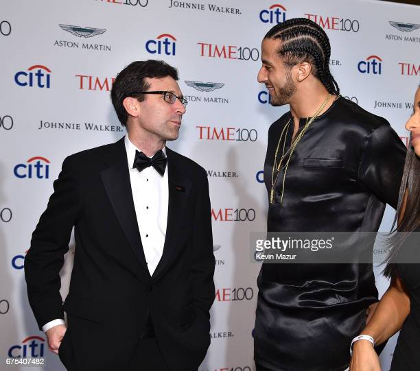 Bob Ferguson and Colin Kaepernick attend 2017 Time 100 Gala at Jazz at Lincoln Center on April 25 2017 in New York City