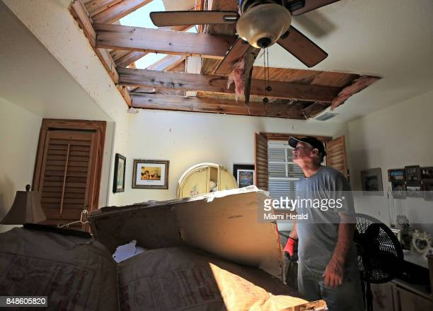 Bob Fiorile arrives home to find his devastated home in Big Pine Key on Sunday Sept 17 2017 Residents were allowed to return to their homes today a...