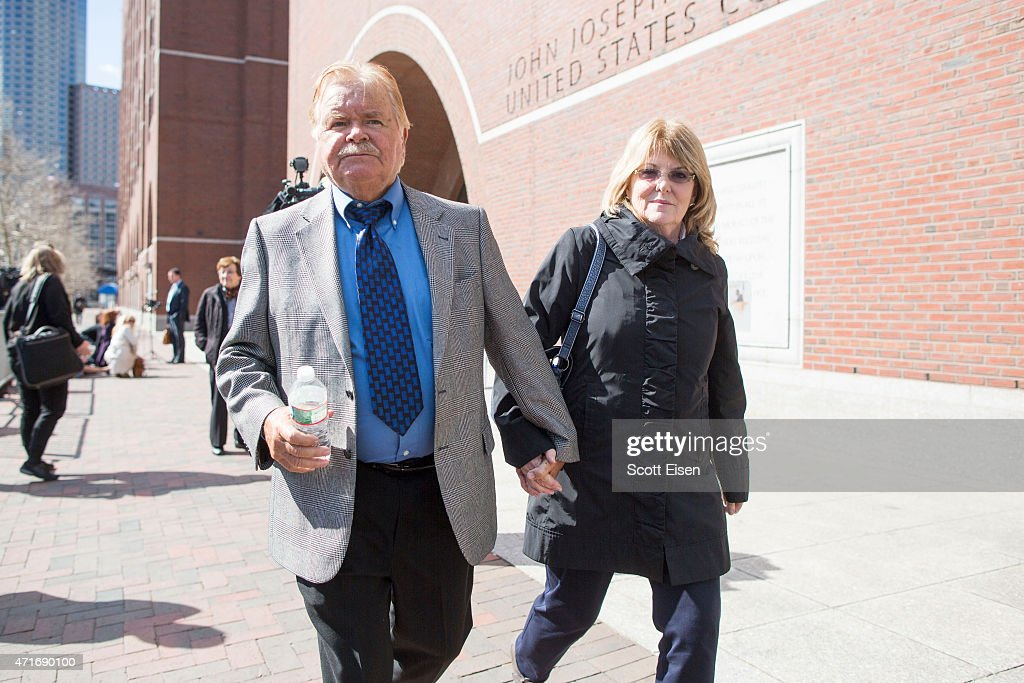 Bob Fitzpatrick a former FBI special agent and key witness in the Whitey Bulger case leaves John Joseph Moakley United States Courthouse with his...