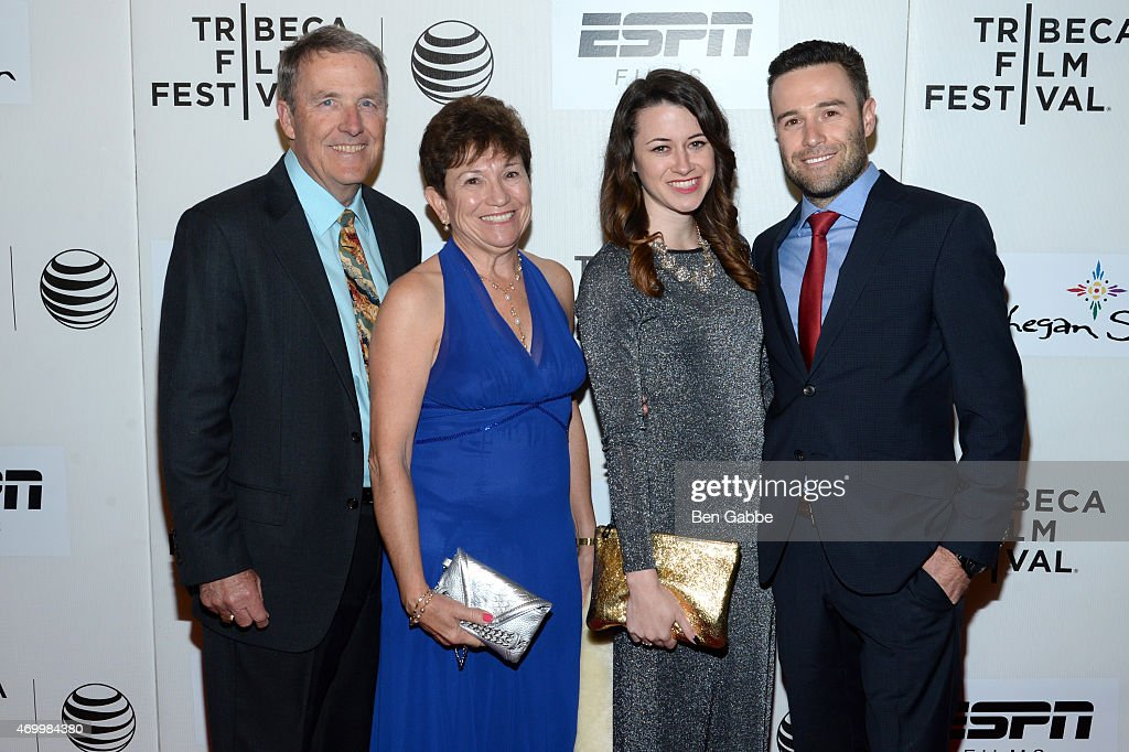 Bob Franklin, Justine Franklin, Kelly Wilkes, and director of photography Geoff Franklin attend the Tribeca/ESPN Sports Film Festival Gala for the premiere of 'Play It Forward' during the 2015 Tribeca Film Festival at BMCC Tribeca PAC on April 16, 2015 in New York City.