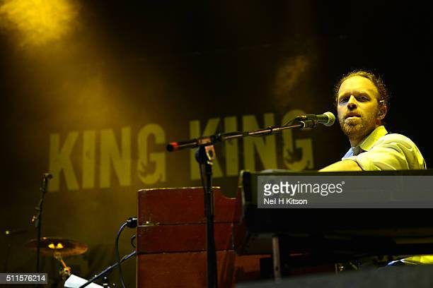 Bob Fridzema of King King Performs at Motorpoint Arena on February 19 2016 in Sheffield England