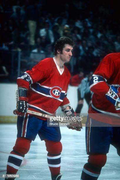 Bob Gainey of the Montreal Canadiens waits for the faceoff during an NHL game circa 1977