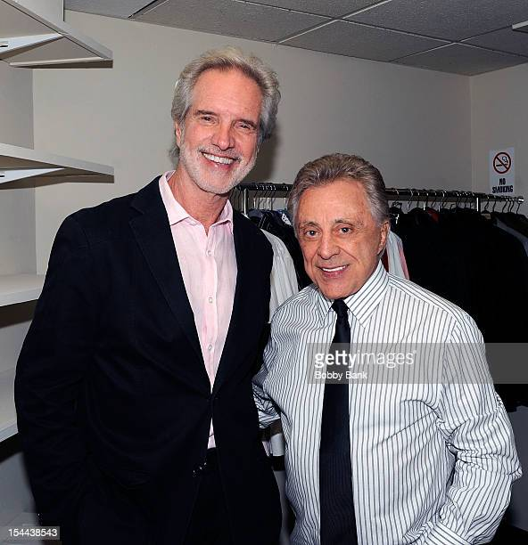 Bob Gaudio and Frankie Valli attends Frankie Valli And The Four Seasons 50th Anniversary Celebration at Broadway Theatre on October 19 2012 in New...
