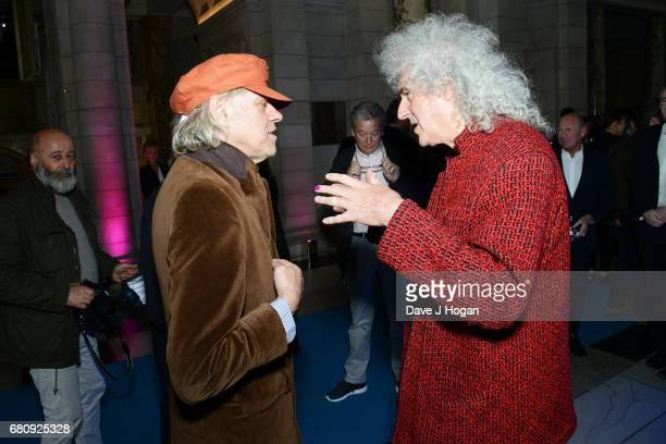 Bob Geldof and Brian May attend The Pink Floyd Exhibition 'Their Mortal Remains' private view at The VA on May 9 2017 in London United Kingdom