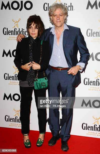 Bob Geldof and Jeanne Marine arrive at the Mojo Awards at the Brewery in London