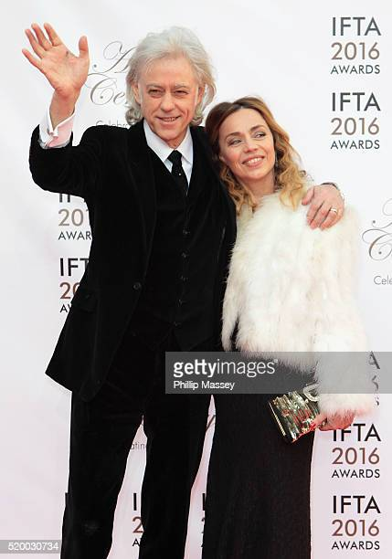 Bob Geldof and Jeanne Marine attend the 2016 IFTA Film Drama Awards at Mansion House on April 9 2016 in Dublin Ireland