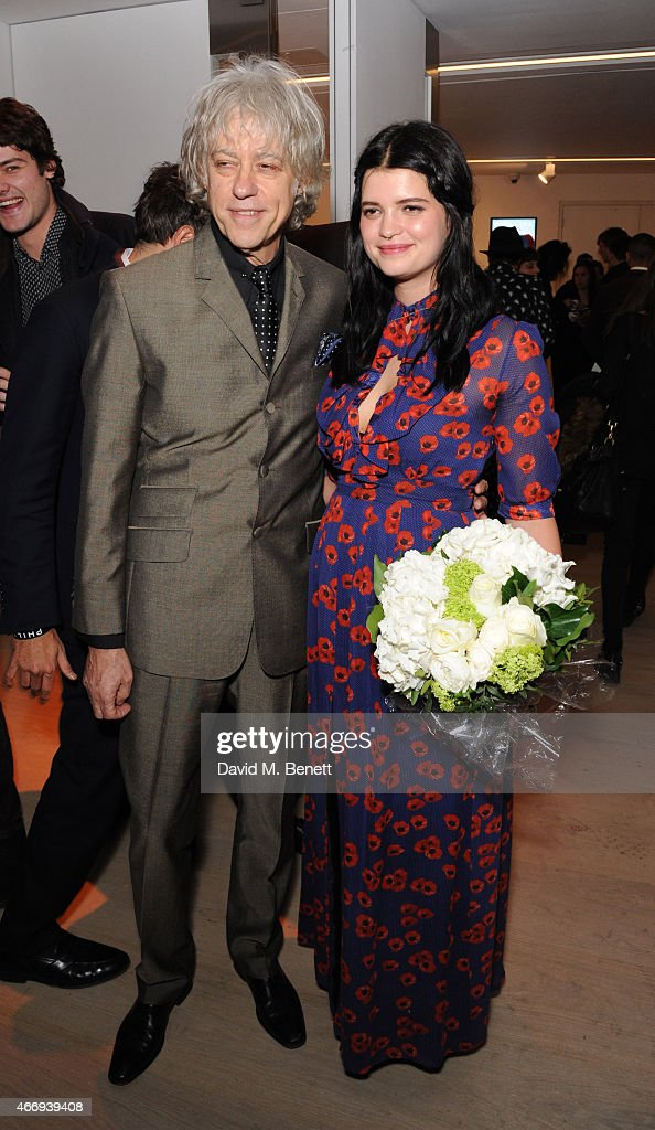 Bob Geldof and Pixie Geldof attends the Junior Ocean Council's 'Fashions for the Future' event at Phillips Gallery on March 19, 2015 in London, England.