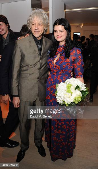 Bob Geldof and Pixie Geldof attends the Junior Ocean Council's 'Fashions for the Future' event at Phillips Gallery on March 19 2015 in London England