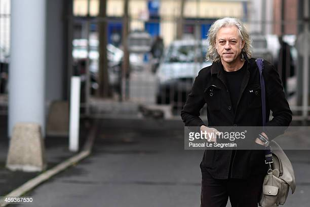 Bob Geldof arrives at the 'Band Aid' Press Conference at Studio 180 on November 21 2014 in Paris France