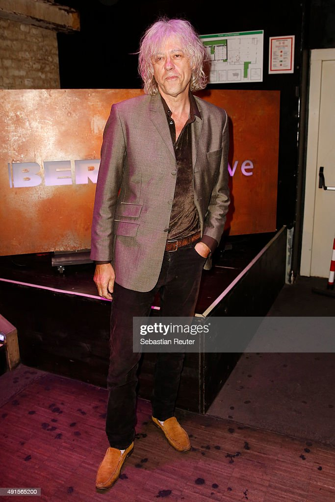Bob Geldof attends Bob Geldof VIP reception & concert in Berlin on October 6, 2015 in Berlin, Germany.