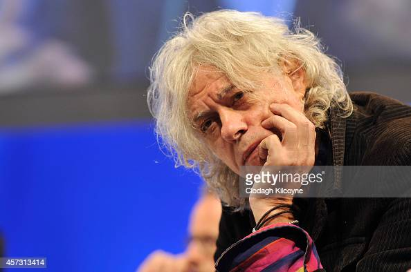Bob Geldof attends the Leadership and Government plenary session during the One Young World Summit at the Convention Centre on October 16 2014 in...
