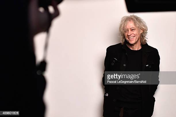 Bob Geldof attends to record the Band Aid 30 'Noel est la' single at Studio Grande Armee on November 23 2014 in Paris France