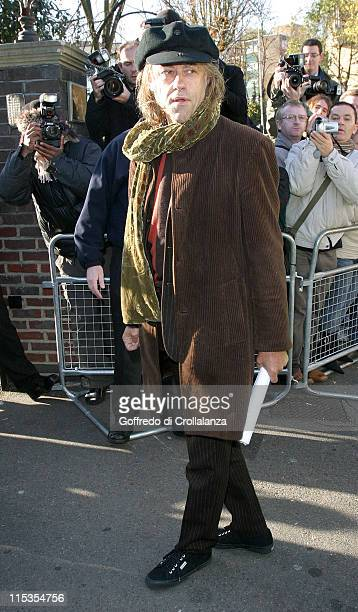 Bob Geldof during New Band Aid 2 Recording of 'Do They Know It's Christmas' at Air Studios November 14 2004 at Air Studios Lyndhurst Road in London...