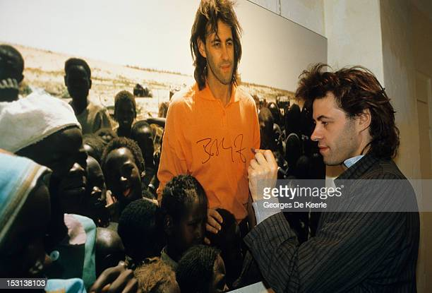 Bob Geldof in London on January 1986