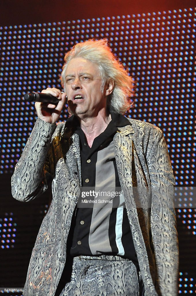 Bob Geldof of the Boomtown Rats performs on stage at Donauinselfest DIF 2016 Vienna at Donauinsel on June 25, 2016 in Vienna, Austria.