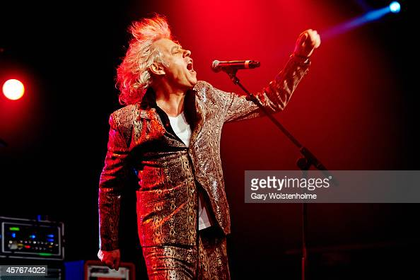 Bob Geldof of The Boomtown Rats performs on stage at O2 Academy on October 22 2014 in Sheffield United Kingdom