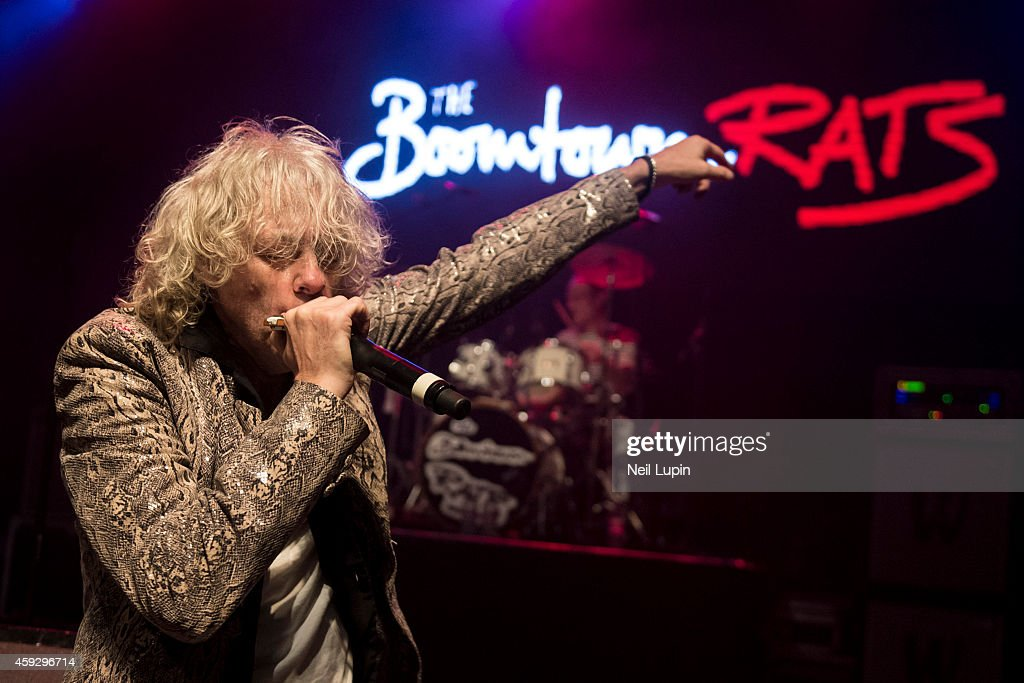 Bob Geldof of the Boomtown Rats performs on stage at The Forum on November 7, 2014 in London, United Kingdom.