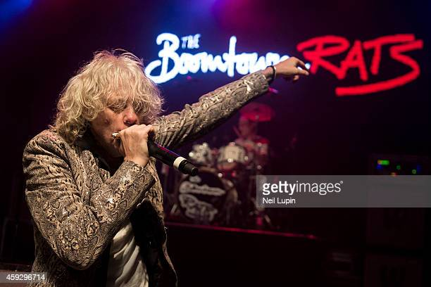 Bob Geldof of the Boomtown Rats performs on stage at The Forum on November 7 2014 in London United Kingdom