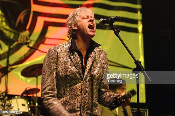 Bob Geldof of The Boomtown Rats performs on stage at The Roundhouse on October 26 2013 in London England