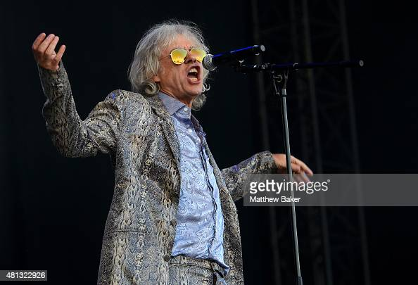 Bob Geldof of the Boomtown Rats performs on the Obelisk Arena stage on day 4 of Latitude Festival at Henham Park Estate on July 19 2015 in Southwold...