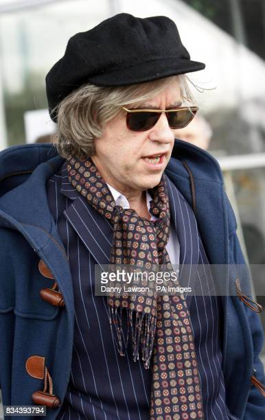 Bob Geldof outside the SECC in Glasgow after addressing the British Insurance Brokers Association conference