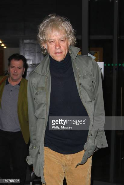 Bob Geldof performs with his band The Boomtown Rats on the Late Late Show at RTE Studios on September 6 2013 in Dublin Ireland