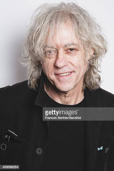 Bob Geldof poses for a portrait session during the Band Aid 30 'Noel est la' single recording at Studio Grande Armee on November 23 2014 in Paris...