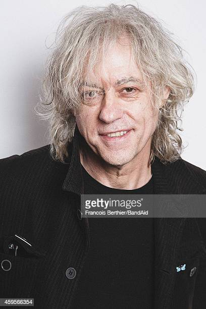 Bob Geldof poses for a portrait session during the Band Aid 30 'Noel est la' single recording at Studio Grande Armee on November 23 2014 in Paris...
