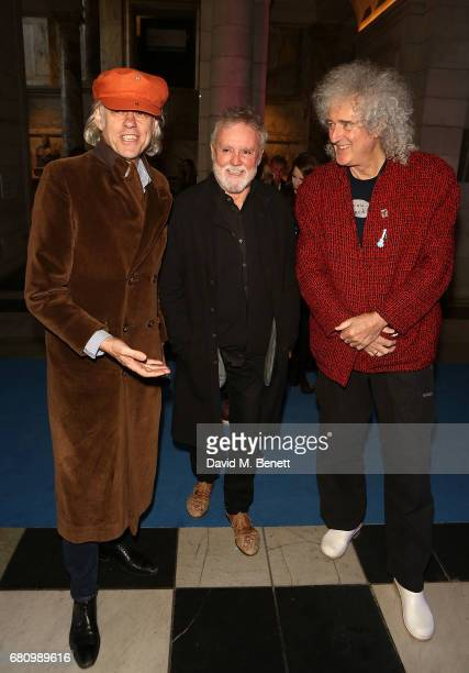 Bob Geldof Roger Taylor and Brian May attend the 'Pink Floyd Their Mortal Remains' Gala Night at The VA on May 9 2017 in London United Kingdom