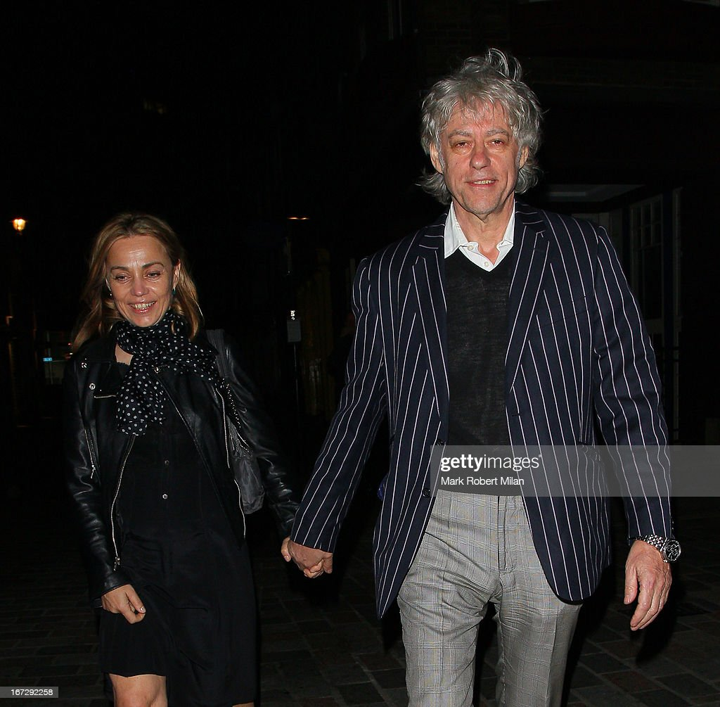 Bob Geldof (R) sighting on April 23, 2013 in London, England.