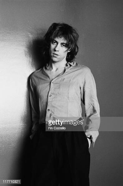 Bob Geldof singer with Irish punk band The Boomtown Rats poses for a studio portrait in February 1979