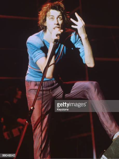 Bob Geldof singer with The Boomtown Rats circa 1979