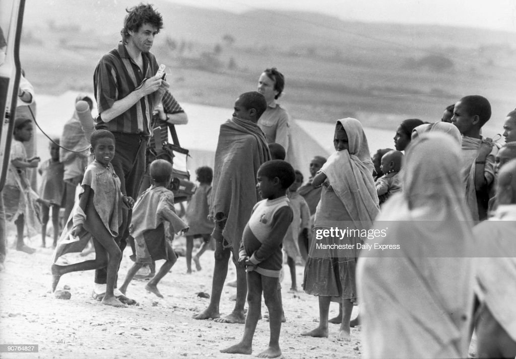 Bob Geldof was lead singer of the Boomtown Rats and has raised awareness of poverty in the developing world