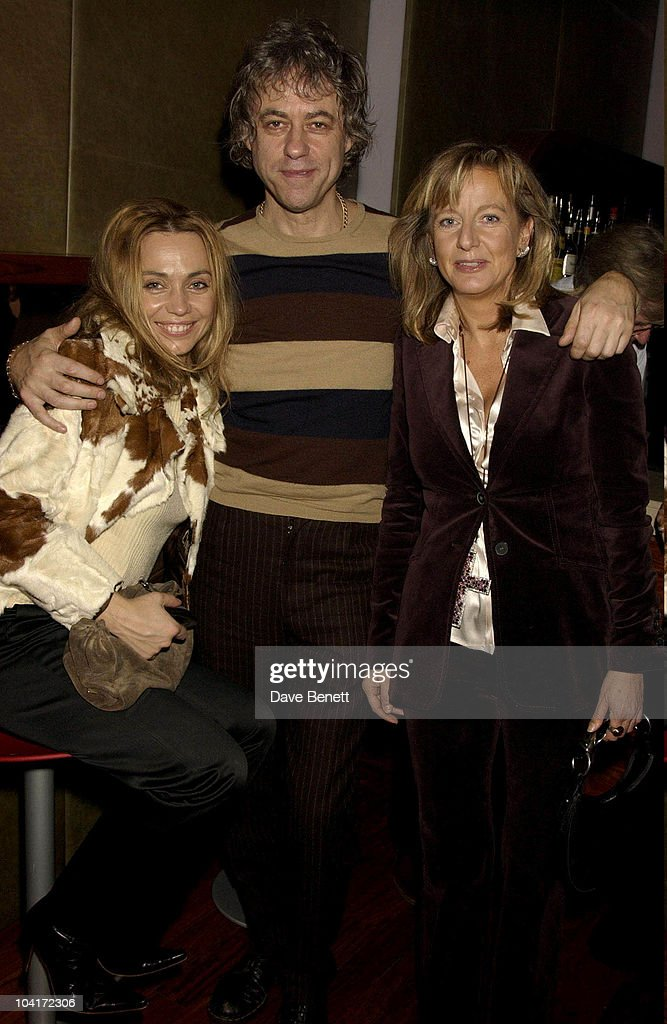 Bob Geldof With Jeanne Marine And Marie Chantel Of Hanover, Bond Girls Are Forever Book Launch At Osla Restaurant, In Haymarket, London