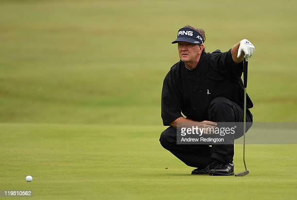 Bob Gilder of the USA in action during the first round of the Senior Open Championship at Walton Heath Golf Club on July 21 2011 in Tadworth England