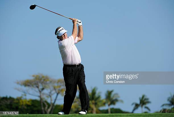 KA'UPULEHUKONA HI JANUARY 20 Bob Gilder plays from the second tee during the first round of the Mitsubishi Electric Championship at Hualalai Golf...