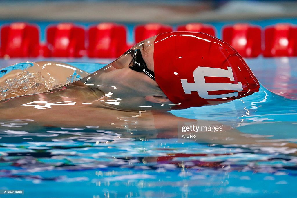 Bob Glover of the United States competes in a heat for the Men's 200 Meter Backstroke during Day Five of the 2016 U.S. Olympic Team Swimming Trials at CenturyLink Center on June 30, 2016 in Omaha, Nebraska.